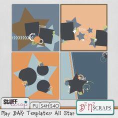 May BAK: Templates: All Star by B2N2 Scraps
