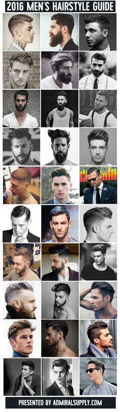 2016 Classic Men's Hairstyle Guide See more at http://www.spikesgirls.com - #Hairstylist, #hair, #male, #man, #hombre, #cabello, #estilismo, #fijación, #corte, #pelo