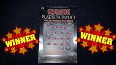 I WON! on $250,000 PLATINUM PAYOUT NC LOTTERY.
