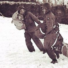101st Airborne Division personnel retrieve an A-4 Aerial Delivery Container containing medical supplies.    #bastogne #ww2weapons #ww2history #1944 #battleofthebulge #ww2 #warpics #warhistory #worldwar2 #worldwar #worldwarii #worldwartwo #1944 #usarmy #bandofbrothers #currahee