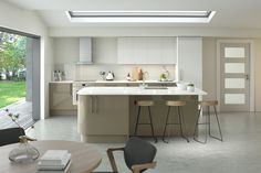 A contemporary, streamlined, stylish kitchen with a glossy finish that is full of clever storage ideas from Homebase Outdoor Kitchen Sink, Outdoor Kitchen Design, Modern Kitchen Design, Kitchen Designs, Bathroom Design Layout, Kitchen Layout, Stylish Kitchen, New Kitchen, Kitchen Ideas
