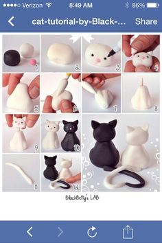 How to make a fondant cat
