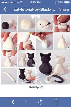 How to make a fondant cat