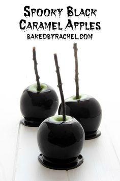 Manzanas negras para Halloween