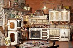 cucina in muratura rustica