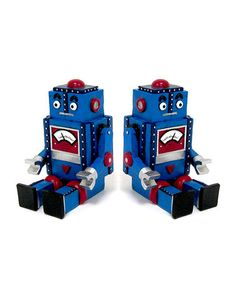 Take a look at this Blue Robot Bookend - Set of Two by Concepts on #zulily today!