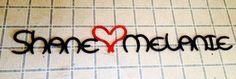 Horseshoe name sign. Horseshoe Heart. Custom Sign. Anniversary Gift. Wedding Gift.