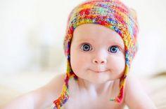 adorable, baby, beanie, cute, eyes