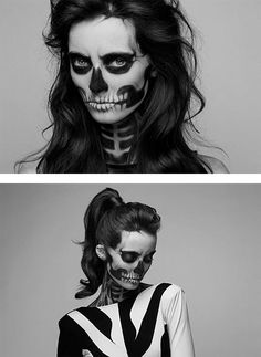 Skeleton Make-Up by Mademoiselle Mu by LS Tham