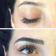 These Amazing Microblading Results May Persuade You to Get Your Brows Tattooed - Eye Makeup tips Best Eyebrow Makeup, Best Eyebrow Products, Eye Makeup, Hair Makeup, Eyebrows Goals, Eyebrows On Fleek, Tattooed Eyebrows, Eye Brows, Permanent Eyebrows
