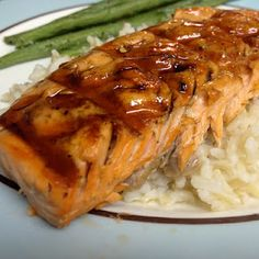Grilled Balsamic Salmon    Love it, make it with balsamic glaze often!