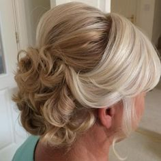 7 curly updo with bouffant for older women