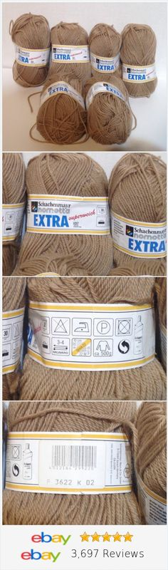 Schachenmayr Nomotta Extra Yarn Beige 6 Skeins #yarn #knitting #crafts