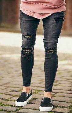 Sik Silk Skinny Denim Black New Spring Summer 2017 skinny jeans from sik  silk Low rise a97acf713f
