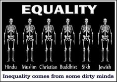 Equality comes from dirty mings