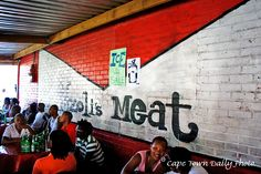"""Meat Shop in the township - purchase your meat and they """"braai"""" it for you right there Cape Town Accommodation, Meat Shop, Most Beautiful Cities, Daily Photo, We The People, South Africa, How To Plan, City, World"""