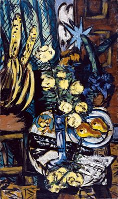 Max Beckmann: Still Life with Yellow Roses (1937)