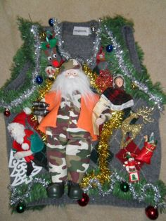 UGLY TRUMP X-MAS SWEATER - combover included! You love him, you ...