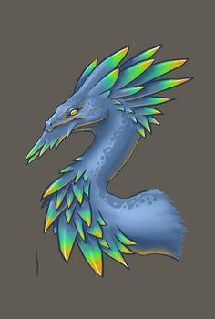 dragon a plume pour le fun