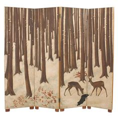 """amare-habeo: """"Jean Dunand (Swiss-French, Lacquered Wood and Eggshell Screen, 1941 Lacquered wood, eggshell, 191 x 168 x 3 cm """" Home Design, Interior Design, Room Deviders, Japanese Screen, Art Deco Home, Art Deco Furniture, Antique Furniture, Panel Art, Textiles"""