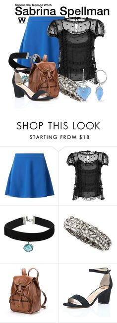 """""""Sabrina the Teenage Witch"""" by wearwhatyouwatch ❤ liked on Polyvore featuring RED Valentino, Topshop, Alexis Bittar, AmeriLeather, River Island, Miadora, television and wearwhatyouwatch"""