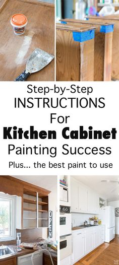 Kitchen Cabinet Remodel Ultimate DIY Kitchen Makeover Tutorial: How to Paint Cabinets to turn an Out-of-Date Kitchen into a fresh and beautiful space with Paint. Painting Kitchen Cabinets White, White Kitchen Cabinets, Kitchen Cabinetry, Kitchen Paint, Painting Cabinets, Kitchen Redo, New Kitchen, Soapstone Kitchen, Best Paint For Cabinets