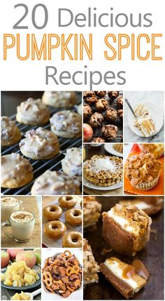 Pumpkin Spice Recipes! Easy dessert recipes that you can make for Fall and Winter!