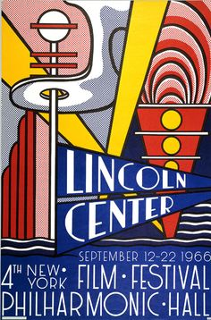 Roy Lichtenstein, Lincoln Center Poster (1966)