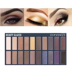 Beauty Essentials Glitter 20 Colors Eyeshadow Palette Eyeliner Pigment Mascara Makeup Kit For Daily Eye Palette Maquillage Yeux Beauty Glazed #68