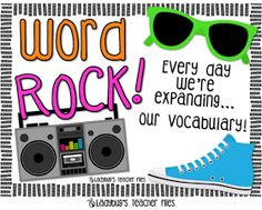 Ladybug's Teacher Files: Word Rock! Every day we're expanding...