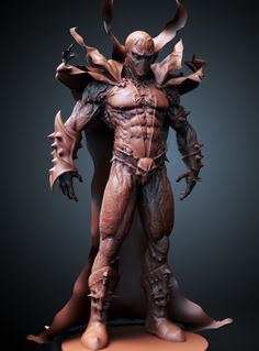 Update on the Spawn sculpt I am doing in Zbrush.
