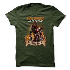 Motorcycles T-shirt - Ive Spent A Lot Of Time Behind Bars - #mens hoodies #design shirt. CHECK PRICE => https://www.sunfrog.com/LifeStyle/Motorcycles-T-shirt--Ive-Spent-A-Lot-Of-Time-Behind-Bars.html?id=60505