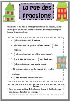 Let your students practice working with fractions with this engaging activity. In this product, students get to design a street using different fractions. In this fraction activity, students will work with fractions in a set and equivalent fractions. Teaching Fractions, Math Fractions, Teaching Math, Equivalent Fractions, Dividing Fractions, Fraction Activities, Math Resources, Math Activities, Math Games
