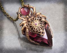 Amethyst Crystal Spider Necklace by byrdldy on DeviantArt