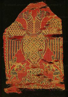 Double-headed eagle. Spanish silk   13th cent.  Musee Historique des Tissus,Lyon  France