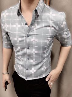 Mens Tucked in Shirt Casual Outfit 💯 Attractive Outfit. Mens Fashion Summer Outfits, Trendy Mens Fashion, Mens Fashion Blazer, Indian Men Fashion, Mens Fashion Wear, Stylish Mens Outfits, Mens Designer Shirts, Designer Clothes For Men, Formal Men Outfit