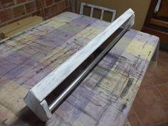 Fabricação de suporte para cozinha em pátina provençal.