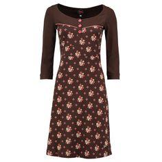 Tante Betsy jurk 'Tammy Winterflower Brown'' koop je eenvoudig en veilig online bij Love, Peace & Joy. Op werkdagen voor 21.00 uur besteld, is morgen in huis!