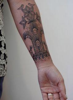 Un tattoo épuré