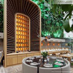 modern restaurant Get Amazed By Modern Restaurants Interior Design Projects by ARCHPOINT! Luxury Restaurant, Restaurant Lounge, Modern Restaurant, Bar Lounge, Bar Interior, Restaurant Interior Design, Restaurant Furniture, Luxury Interior, Asian Bistro