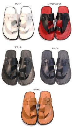 italico | Rakuten Global Market: Tokushima cowhide leather tong sandals / domestic production leather sandals, 2 two pairs of skin sandals / real leather tone color (five colors) purchase made in Japan