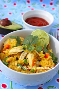 Colombian-Style Chicken with Rice or Arroz con Pollo Colombiano