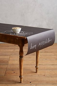 Chalkboard Table Runner...you shoudl do this! It would be amazing!