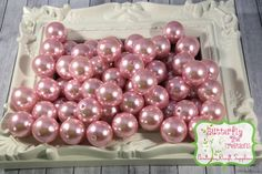 20mm Pink Acrylic Faux Pearl - Bubblegum beads - Gumball beads - chunky necklace supply - UK SELLER