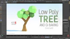 Tutorial: Low-Poly Paper Tree & GI Baking in Cinema 4D
