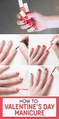 DIY #ValentinesDay manicure.