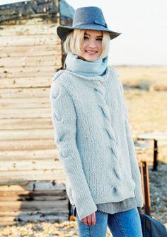 78b0e3b4840 Sweater in Rico Fashion Big Mohair Super Chunky and Rico Essentials  Cashlana DK - 352 - · Beginner Knitting ...