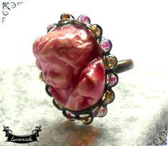 Bague chérubin romantique l'ange cupidon pink saint valentin : Bague par…