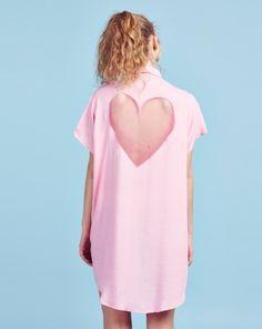 Lazy Oaf Pink Heart Cut Out Shirt