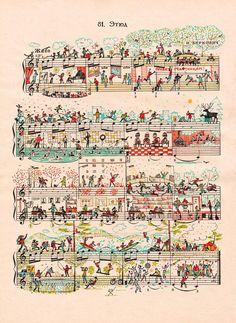 Mike Lemanski è un illustratore inglese, ideatore di una serie di lavori in cui ha esplorato la connessione tra sinfonie e arte/design. Coniugando il fasci